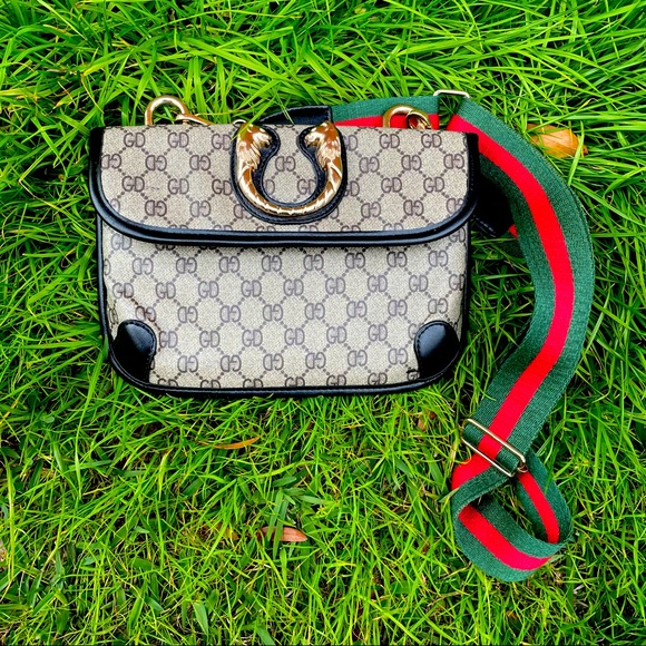 Fashion High End Inspired Monogram Crossbody Bag